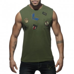 AD750 PATCHES TANK TOP