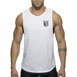 AD383 - BADGE TANK TOP